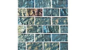 National Pool Tile Lightwaves Glass Tile   Aquamarine 1x2   LWV-AQUAMARINE1X2