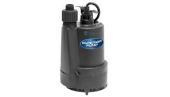 Superior Pump Thermoplastic Utility Pump | Top Discharge | 2400 GPH 1/3 HP 25-Foot Cord | 91335