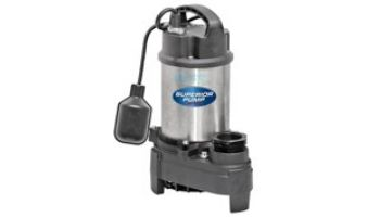 Superior Pump Stainless Steel & Cast Iron Submersible Sump Pump | Side Discharge | 4500 GPH 1/2 HP 25-Foot Cord | 92588
