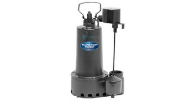 Superior Pump Cast Iron Submersible Sump Pump | Side Discharge | 3600 GPH 1/3 HP 25-Foot Cord | 92359
