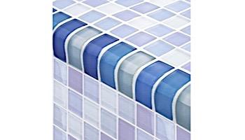 Artistry In Mosaics Crystal Series - Trim Turquoise Cobalt Blue Blend Glass Tile | TRIM-GC82348B3