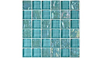 Artistry In Mosaics Twilight Series 1x1 Glass Tile   Turquoise   GT82323T4