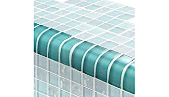 Artistry In Mosaics Twilight Series Trim Glass Tile   Turquoise   TRIM-GT82348T4