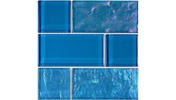 Artistry In Mosaics Twilight Series Trim Glass Tile | Azure Mixed | TRIM-GT8M4896B12