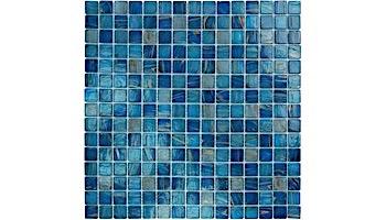 Artistry In Mosaics Venetian Series 3/4x3/4 Glass Tile   Cobalt Blue Copper Blend   GV42020B4
