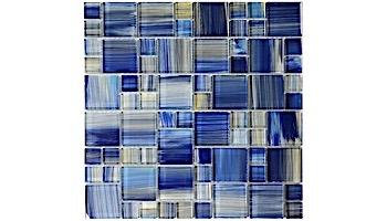 Artistry In Mosaics Watercolors Series Glass Tile | Blue Mixed | GW8M2348B10