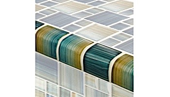 Artistry In Mosaics Watercolors Series 2x2 Trim Glass Tile | Aqua | TRIM-GW8M2348T5