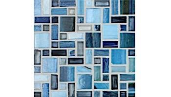 National Pool Tile Cosmopolitan Mosaic Glass Tile | Dark Blue | COS-MILAN
