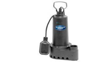 Superior Pump Cast Iron Submersible Sump Pump | Side Discharge | 3600 GPH 1/3 HP 25-Foot Cord | 92358
