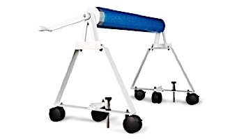 Rocky's Reel Systems High Riser Residential Reel System   AT-1 Adjustable Tube Set For Up To 20' Wide Pool   318/323