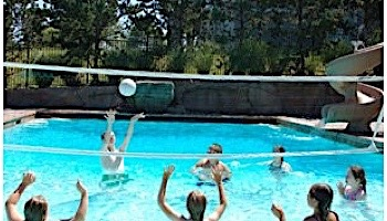 SR Smith Salt Pool Friendly Volleyball Game Complete | 20' Net with Anchors | S-VOLY20