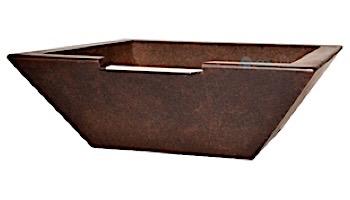 "Grand Effects 30"" SQ Concrete Corinthian Water Bowl | MFGnumber"