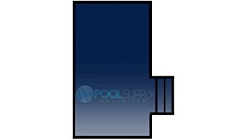 Loop-Loc 15-Year Mesh Safety Cover | Rectangle 16' x 32' | 2' Offset 4' x 8' Right Side Step | LL163248SSR2