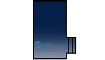 Loop-Loc 15-Year Mesh Safety Cover | Rectangle 20' x 40' | 1' Offset 4' x 8' Right Side Step | LL204048SSR1