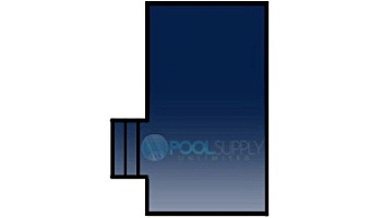 Loop-Loc 15-Year Solid Safety Cover | Rectangle 16' x 32' | 2' Offset 4' x 8' Left Side Step | w Drain Panel | LLS163248SSL2