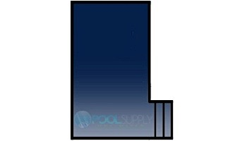 Loop-Loc 15-Year Solid Safety Cover | Rectangle 20' x 40' | Flush 4' x 8' Right Side Step | w Cover Pump | LLSP204048SSR