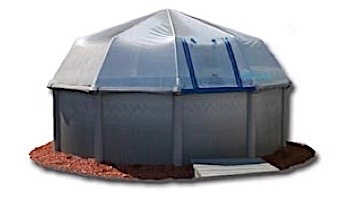 Fabrico Sun Dome All Vinyl Dome for Soft Sided Above Ground | 16' x 32' Rectangle | 301460