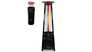 Lava Heat Italia© 2G A-Line Commercial Patio Heater with Remote | Triangular 8-Foot | Hammered Black Natural Gas | AL8RGBL LHI-125