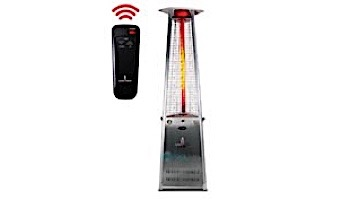 Lava Heat Italia© 2G A-Line Commercial Patio Heater with Remote | Triangular 8-Foot | Stainless Steel Natural Gas | AL8RGS LHI-127