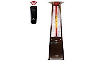 Lava Heat Italia© 2G A-Line Commercial Patio Heater with Remote | Triangular 8-Foot | Heritage Bronze Propane | AL8RPB LHI-129