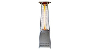 Lava Heat Italia© Lava Lite A-Line Commercial Patio Heater | Triangular 8-Foot | Stainless Steel Natural Gas | AL8MGS LHI-133