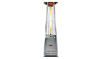 Lava Heat Italia© Lava Lite KD A-Line Commercial Patio Heater | Triangular 8-Foot | Stainless Steel Natural Gas | AL8MGSK LHI-139