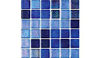 National Pool Tile Tribeca 1x1 Glass Tile   Dark Blue Non Skid   TRI-DKBLUE-NS