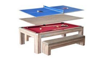 Hathaway Newport 7-Foot Pool Table Combo Set with Benches   NG2535P BG2535P