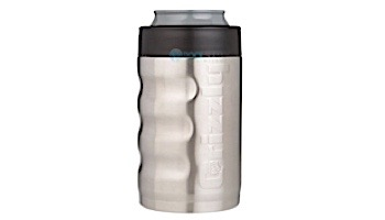 Grizzly Stainless Steel Grip Can 12 oz   Brushed Stainless Finish   450110