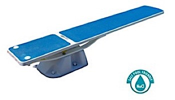 SR Smith Salt Pool Jump System With TrueTread Board Complete   6' White with Blue Top Tread   68-207-5762B