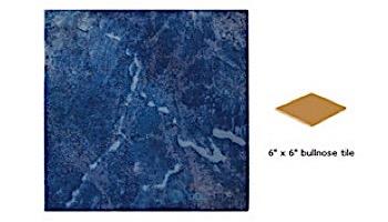 National Pool Tile Blue Seas 6x6 Single Bullnose Pool Tile | Royal Blue | SEA-ROYAL SBN