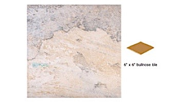 National Pool Tile Gemstone 6x6 Single Bullnose Pool Tile | Silver | GMS-SILVER SBN