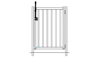 """Saftron Self Closing Gate with 54"""" Plunger Latch For 2200 Series Fencing 