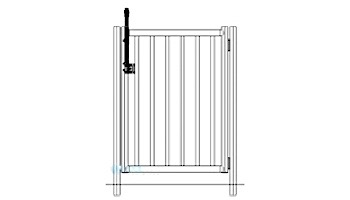 """Saftron Self Closing Gate with 54"""" Plunger Latch For 2200 Series Fencing   48"""" H x 36"""" W   White   FG-2202-4836-W"""