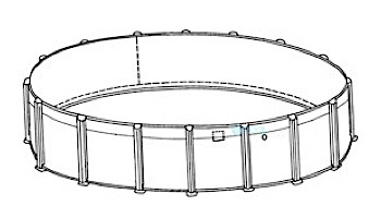 """Coronado 18' Round 54"""" Sub-Assy for CaliMar® Above Ground Pools 