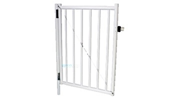 """Saftron Self Closing Gate with Standard Latch For 2200 Series Fencing   48"""" H x 36"""" W   Graphite Gray   FG-2201-4836-GG"""