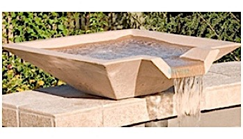 """Water Scuppers and Bowls Riviera Spill Bowl   30"""" Gray Smooth with Copper Scupper Insert   WSBRIV30"""