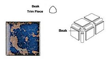 National Pool Tile Discovery Field 3x3 Beak   Terra Blue   DSF10N BEAK