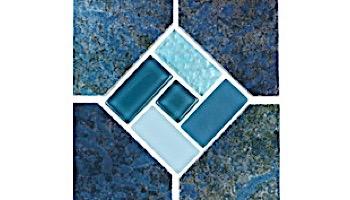 National Pool Tile Trident 6x6 Deco | Blue | TRD-SEASIDE DECO