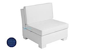 Ledge Lounger Signature Collection Sectional   Middle Piece White Base   Oyster Standard Fabric Cushion   LL-SG-S-M-SET-W-STD-4642