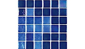National Pool Tile Tribeca 1x1 Glass Tile   Dark Blue Glossy  TRI-DKBLUE-GL