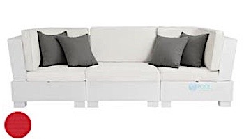 Ledge Lounger Signature Collection Sectional | 3 Piece Sofa White Base | Oyster Standard Fabric Cushion | LL-SG-S-3PS-SET-W-STD-4642