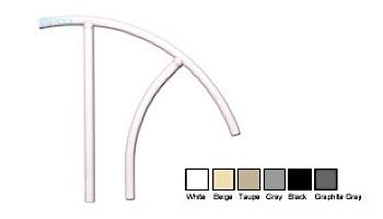 "Saftron Triton Series Return to Deck Mounted Handrail | .25"" Thickness 1.90"" OD | 30""W x 36""H | White | TRTD-130-W"
