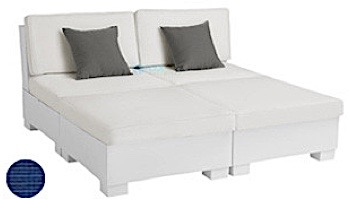 Ledge Lounger Signature Collection Sectional | 4 Piece Sun Chair White Base | Oyster Standard Fabric Cushion | LL-SG-S-4PSC-SET-W-STD-4642