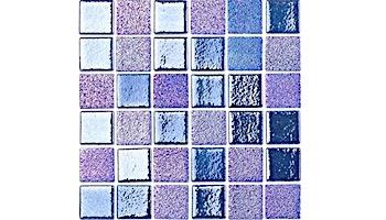 National Pool Tile Opal Glass 1x1 Tile | Azure Blue | OPL-AZURE1X1