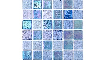 National Pool Tile Opal Glass 1x1 Tile   Steel Grey   OPL-GREY1X1
