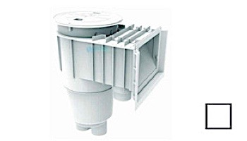 Flow Star Skimmer with Waterstop Face, Float Assembly, Basket, Round Lid, Collar and Ozone Port | White | SKR101-OZ