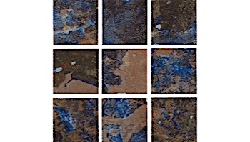 National Pool Tile Coral 2x2 Series | Rustic Blue | CRL-RUSTIC2X2