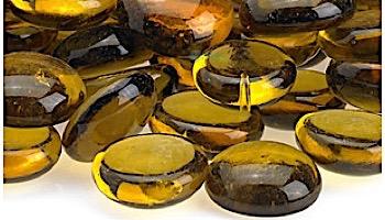 American Fireglass Half Inch Fire Beads Collection | Caramel Fire Beads | 10 Pound Jar | FB-CAR-J