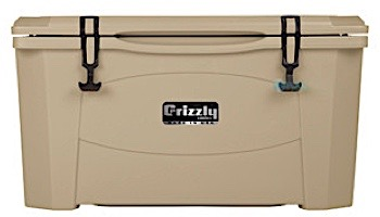 Grizzly Coolers 60 Quart Cooler with BearClaw™ Latches and Molded-in Heavy Duty Handles   Sandstone / Tan   400020